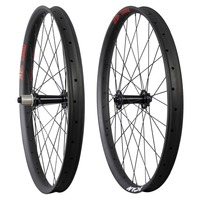 Ican 29+ carbon wheels 29 plus Carbon Fat MTB wheelset Rim 50mm Width Double Wall Hookless Tubeless Compatible
