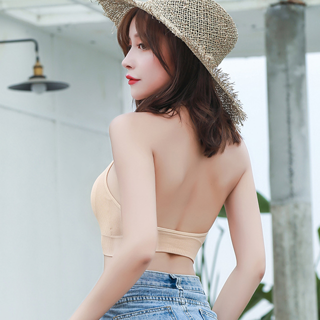 Summer Fitness Bra U Neck Women's Bottoming Tank Top Beauty Back Halter Sexy Vest Camisoles