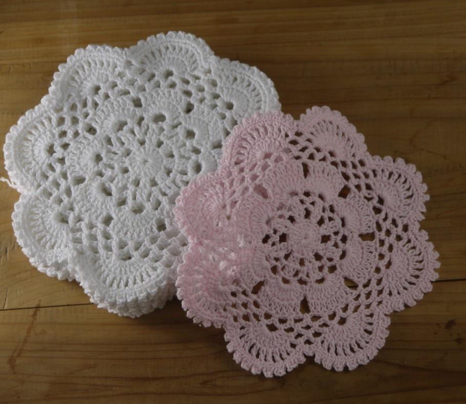 Nostalgic Vintage Crochet Doily Lace Cup Mat Vase Mat