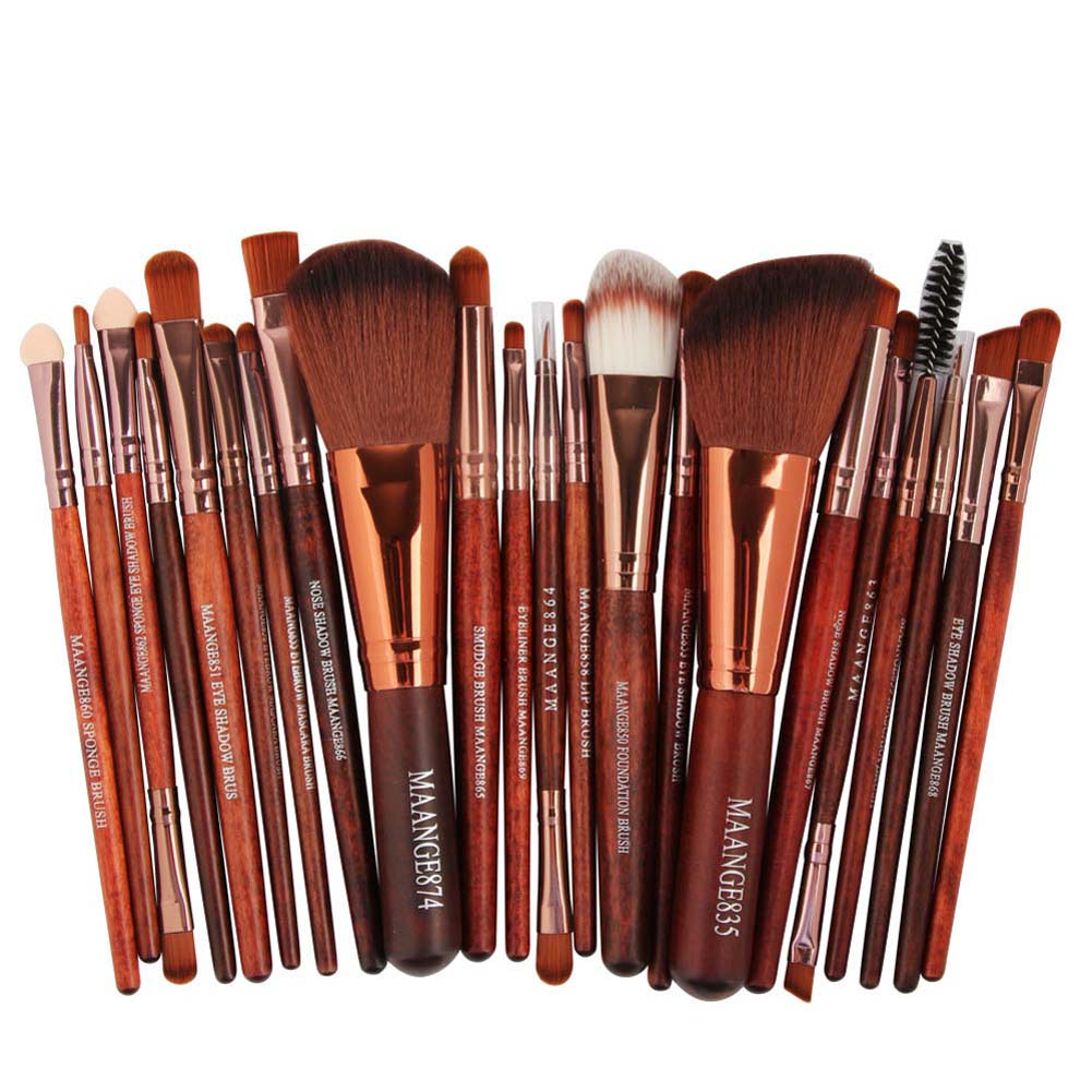 New 22pcs Synthetic Hair Cosmetic Makeup Brush Blusher Eye Shadow Brushes Set Kit Beauty Girl 3 Colors
