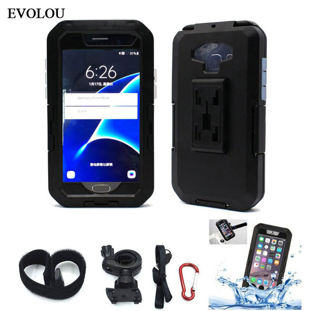 Waterproof Case Bike Phone Holder Motorcycle Stand for Samsung Galaxy S9 S8 S7 S6 S5 Cover Armor Phone Bag Bicycle Mount Holder