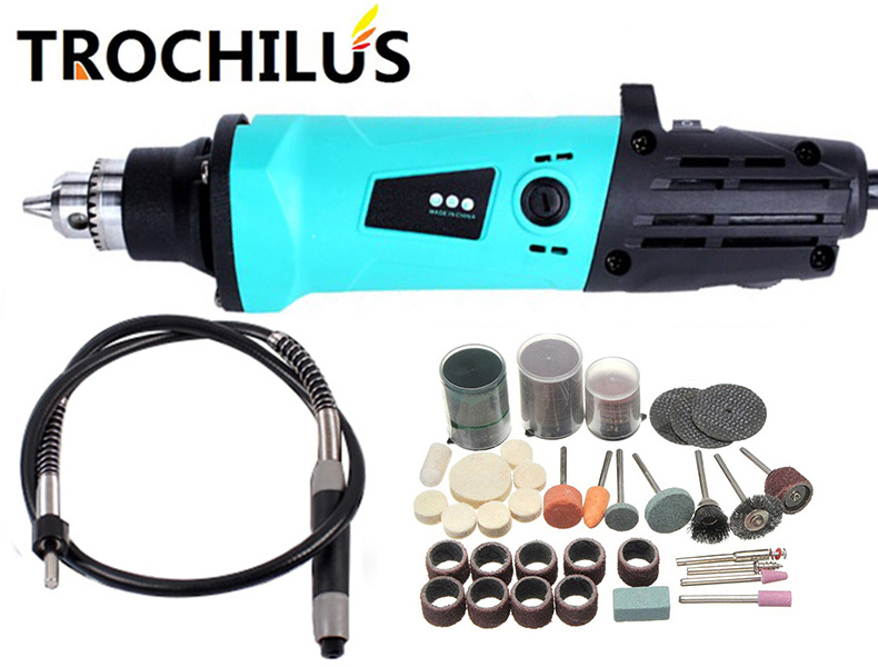 Trochilus profession electric tools Multi-function electric grinder 380W variable speed abrasive polishing Sculpture tool kits trochilus electric tools multi function electric grinder 240w variable speed abrasive polishing sculpture tool no accessorie