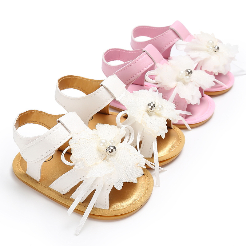 bfc13990e Best buy High Quality Baby Pearl Flowers Princess Shoes For Summer Infant  Soft Rubber Soled First Walkers Kids Toddler Shoes Bebe Sapatos online cheap