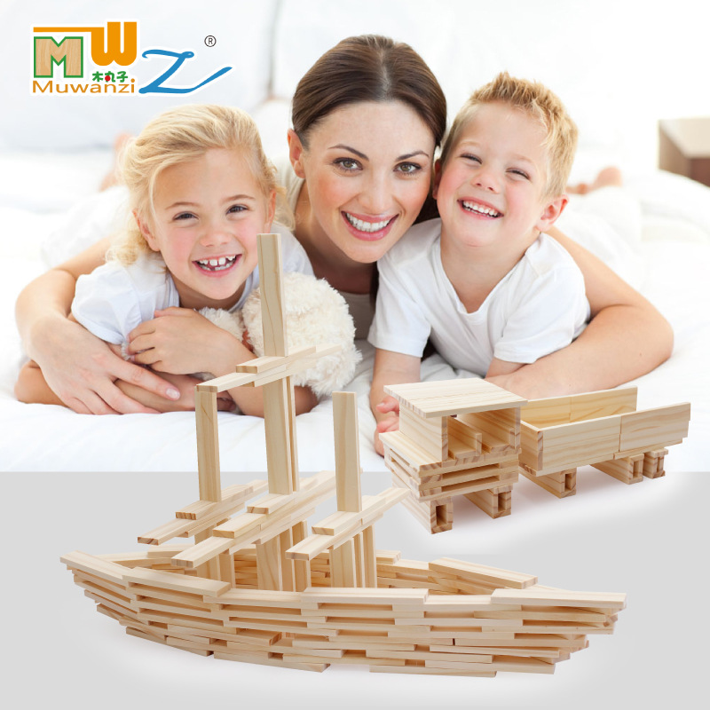 All-match Toys Creative Montessori Building blocks of fun Children's Educational Toy Assembling Pile Tower Blocks creative chain buckle ring blocks children plastic building blocks geometric buckle construction assembling toy educational toys