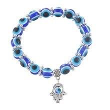 Hamsa Fatima Hand Muslim Turkish Blue Evil Eye Bracelet Handmade Beads Bangles For Women & Men Fashion Jewelry