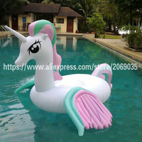 250cm Giant Rainbow Unicorn Inflatable Pool Float For Adults Children Pegasus Ride on Summer Water Toys Beach Party Decorations