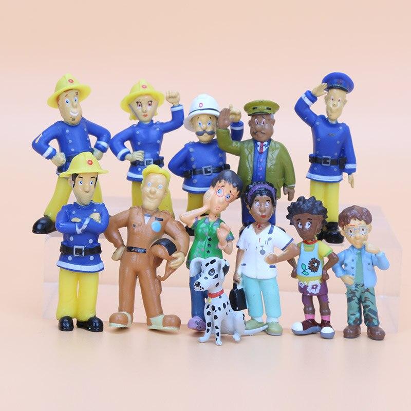 12pcs set fireman sam action figure toys 2 5 6cm cute cartoon pvc dolls for kids fireman sam - Gateau sam le pompier ...