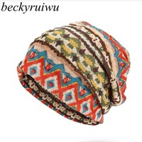 Beckyruiwu High Quality Women Beanie Hats Adult Summer Bike Riding Thin Wrap Cap Men Fashion Hip