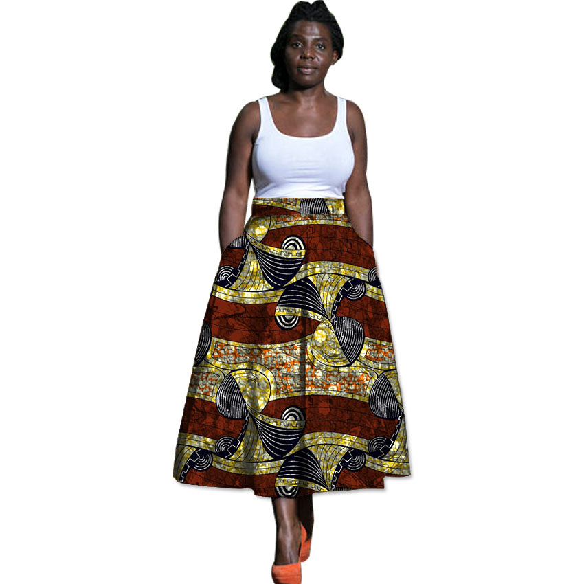 African brightly colored print element ladies dashiki fashion new design skirts custom african clothes for women