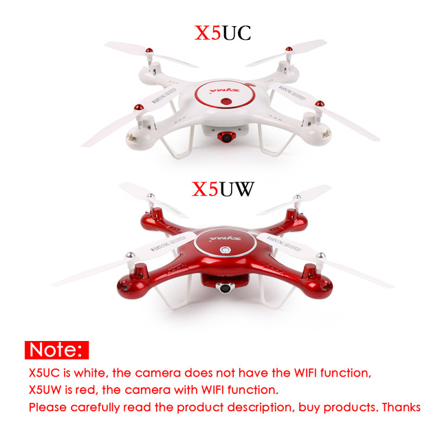 SYMA X5UW FPV RC Quadcopter WIFI Camera HD Mobile Control,Path Flight,Height Hold,One Key Land 2.4G 6-Axis RC Helicopter VS X5UC