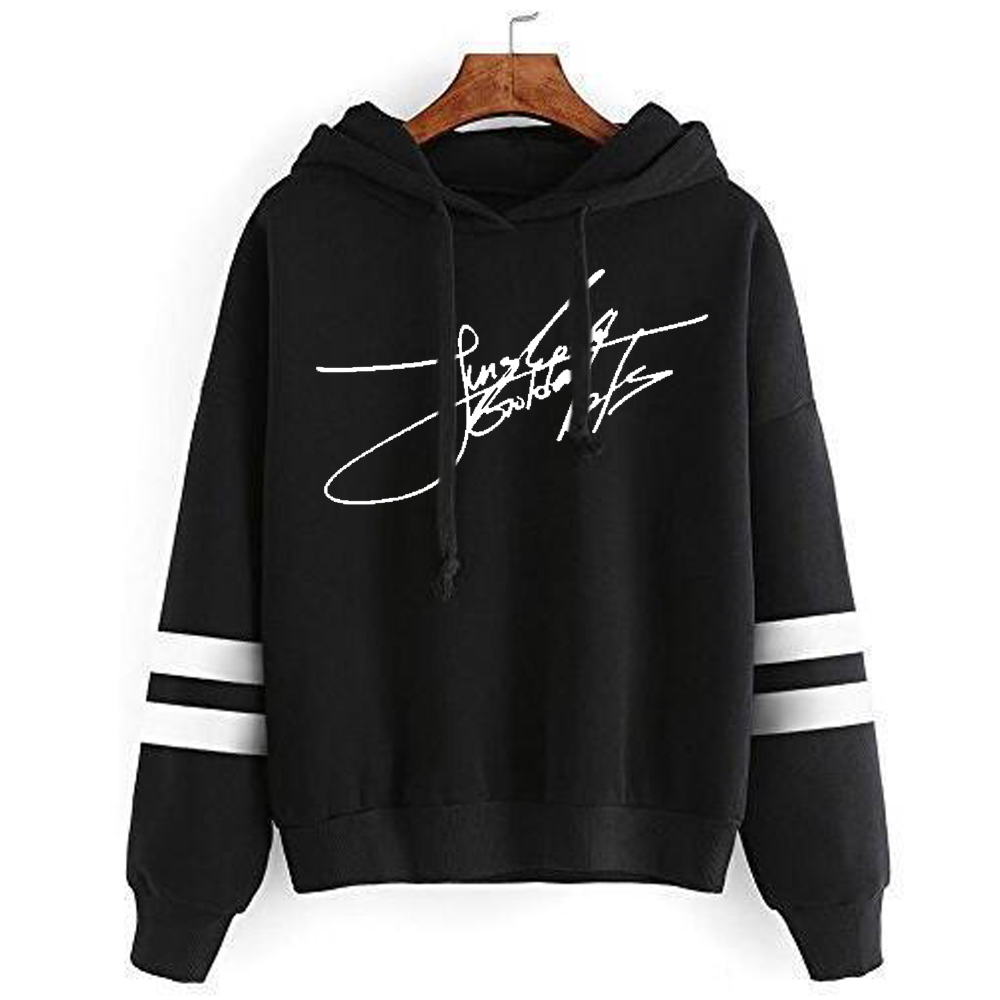 Kpop home New Bangtan boys Bts Signature handwriting Fans Club Personalized Cotton uniform Men and Women's hoodie with hat