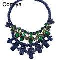 Comiya Корейский акриловые чокеры ожерелья роскоши шесть цветов большой ожерелье чешские модные духи женщины ювелирные изделия 1 шт.