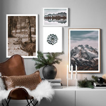 Landscape Canvas Prints Snow Mountain Pictures For Living Room Nordic Home Decoration Posters And Painting