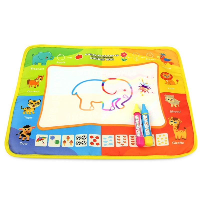 Kids Magic Water Drawing Canvas Coloring Mat With 2 Pens Baby