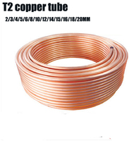 1 Meter Length Red Copper Tubes 2 3 4 5 6 8 10 12 14 16