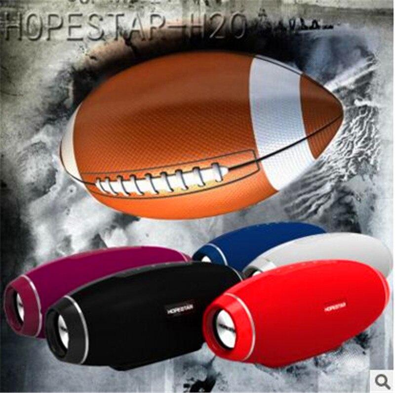 HOPESTAR Original H20 Rugby Bluetooth Lautsprecher Spalte Drahtlose Tragbare Mini Wasserdichte Mega Bass Stereo außen Subwoofer TF USB