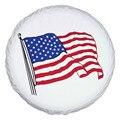 """Monnet EUA teste padrão Da Bandeira de Alta qualidade Universal Pneu Sobressalente Tipo Tamanho Da Tampa 15 """"16"""" 17 """"polegadas PVC Tampas De Roda De Couro"""