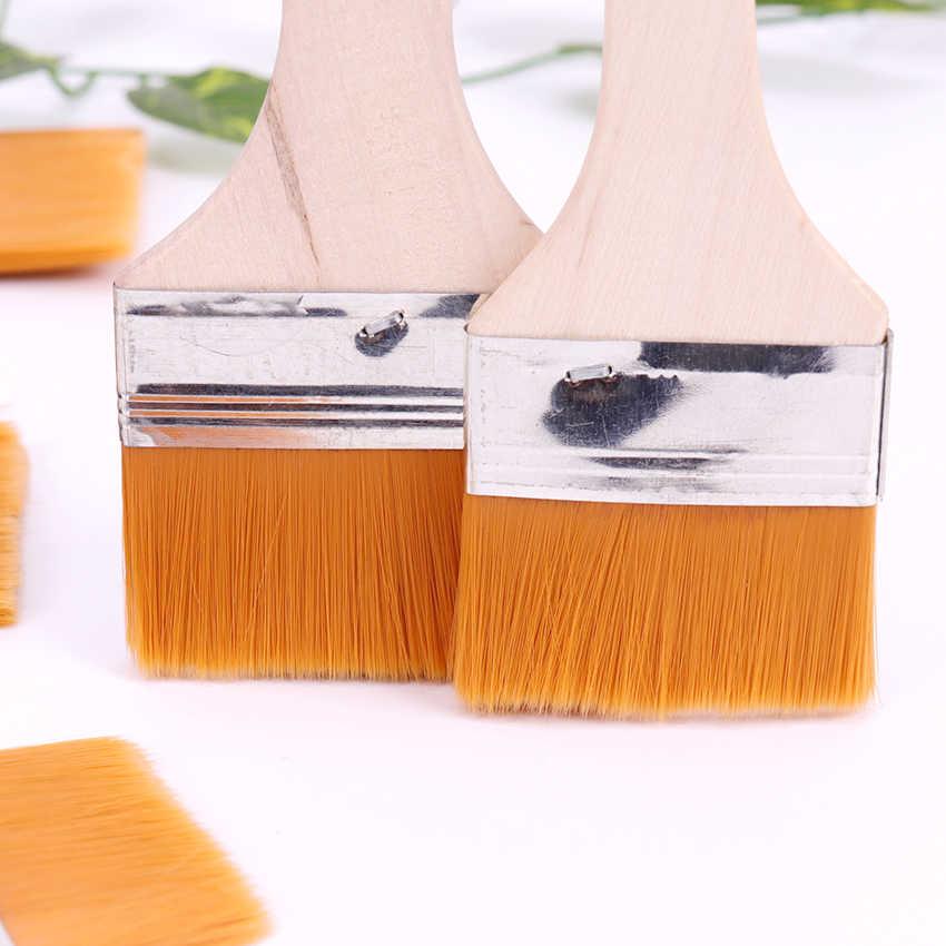 7-12 # stili di Legno Pittura A Olio Pennelli Artista Pittura Ad Acquerello Pennello Diverse Dimensioni di Nylon Dei Capelli Pennello di Pittura Set rifornimenti di arte