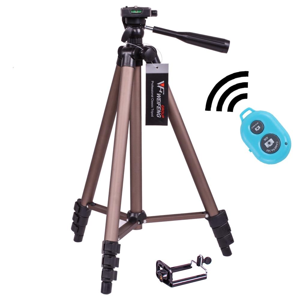 DIGITALFOTO WT3130A Smartphone tripod+Mobile Adapter portable travel DSLR camera tripod with wide lens or shutter control