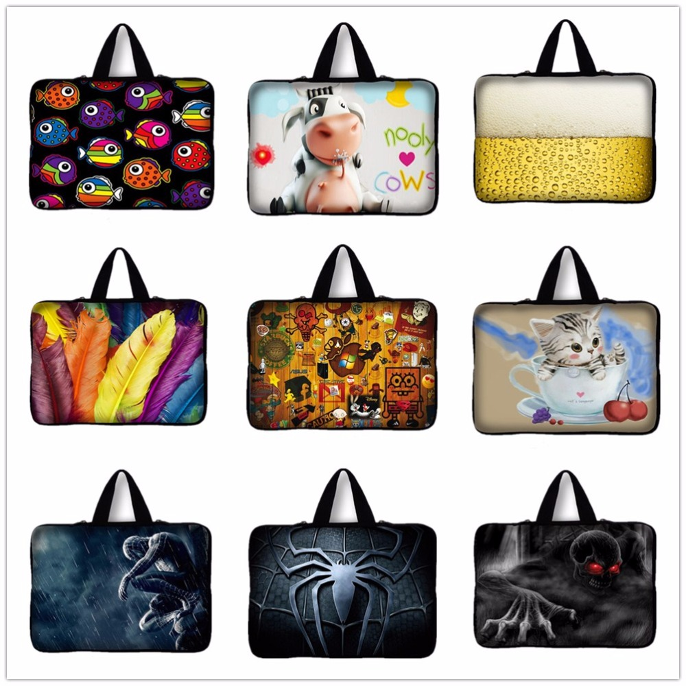 14 14.4 inch Neoprene Notebook Laptop Sleeve Bag Case sponge Bob Print Carrying Handle Bag For Asus Acer Dell HP Pavilion 14