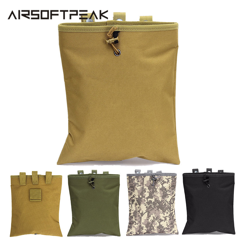 Molle System AR15 Tactical Molle Dump Magazine Pouch Hunting Cartridges Recovery Bag Drop Pouch Tactical Molle Bag Accessories