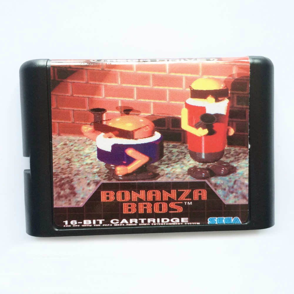 Bonanza Bros. 16 bit MD Game Card For Sega Mega Drive For SEGA Genesis ...