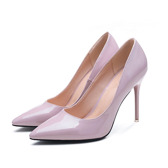 Women 39 s Sexy High Heels Fashion Banquet Pointed Toe Wedding Party Pumps Spring Patent Leather Shoes 5cm 7cm 9cm 10cm XZL A0070 in Women 39 s Pumps from Shoes