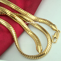 Men's Solid 18k Gold Filled Snake Necklace Chain 60cm Length 6mm 50g N267