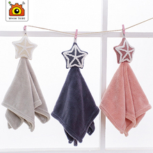 baby bath towel girl stuff  Baby Towel Children Wipe Hanging Soap Thin WipeTowel Cartoon Star Cute