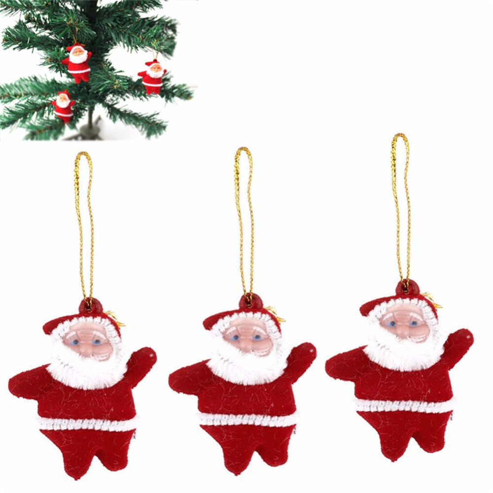 xmas santa watch claus decorations christmas hanging festival tree decoration ornaments decor