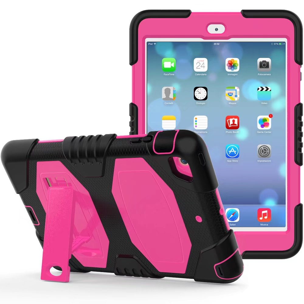 For iPad Mini 1 For iPad Mini 2 For iPad Mini 3 Case Heavy Duty Shockproof Hybrid Rubber Rugged Hard Protective Skin Cover Case