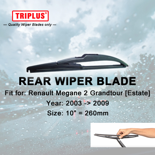 Rear Wiper Blade for Renault Megane 2 Grandtour (2003-2009) 1pc 10 260mm,Car Rear Windscreen Wipers,for Back Window Windshield