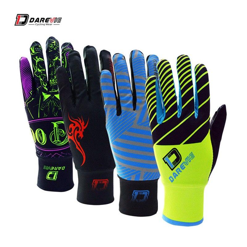 Darevie gants de cyclisme plein écran long tactile doigt gants de vélo 3D rembourré antichoc gants de vélo respirant gants de vélo