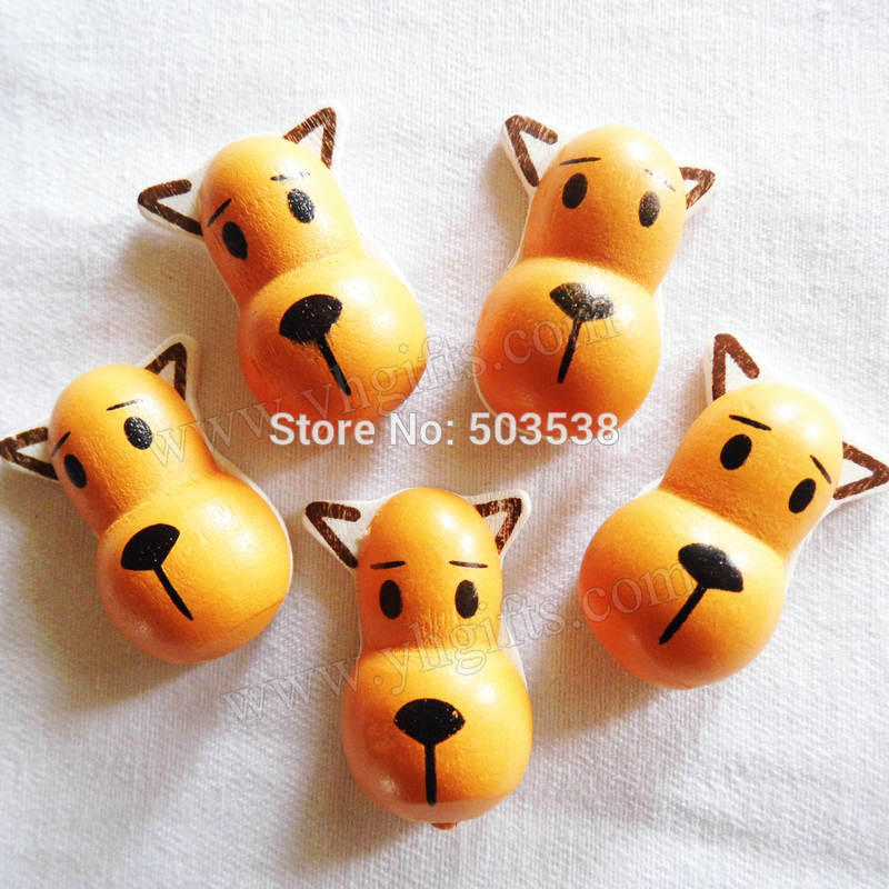 500PCS/LOT.Wood yellow dog stickers,2.3x3cm.Kids toys,scrapbooking kit,Early educational DIY.Kindergarten crafts.Classic toys.