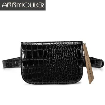 AnnmoulerPU Leather Belt Bag