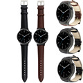 2016 Качество стали Люксовый Бренд Подлинная Искусственная Кожа группа Смотреть ремешок Для Huawei Smart Watch uomo черный металл подарок часы