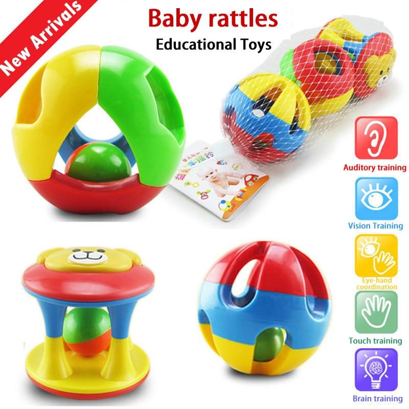 Bébé crotale fun petit fort cloche boule anneau jingle développer bébé intelligence formation saisir capacité jouets pour bébés (lot de 3)