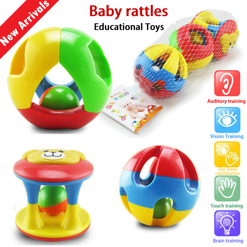 BabyrammeltjesFun Little Loud Bell Ball Ring jingle Ontwikkel baby Intelligentie Training Grijpvermogen speelgoed voor baby's