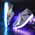 Lemo size 30-35 2016 new 5 color children basket led shoes with light luminous for kids child girls's shoes