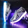 Lemo tamanho 30-35 2016 novos 5 cores crianças cesta led shoes com luz luminosa para crianças criança meninas's shoes