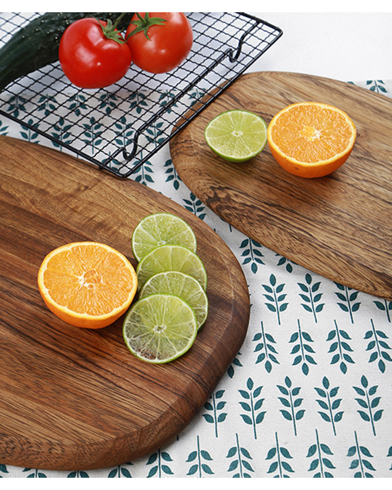 1Pc Kitchen Cutting Board Wood Chopping Blocks Food Serving Plate Wooden Sushi Pizza Bread Tray Wood Cutting Board Kitchen Tools (4-1)
