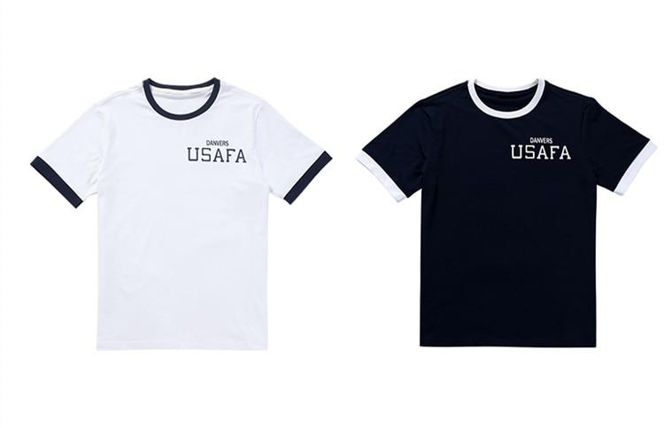 Carol Danvers Captain M USAFA Printed White/Black Tee Shirt O Neck Short Sleeve T-shirt
