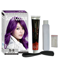 Professional Grape Purple Permanent Hair Dye Cream Non-Toxic DIY Hair Dye Cream