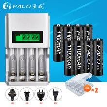 Пало умный ЖК-дисплей батарея зарядное устройство для Ni-MH NI-CD AA AAA перезаряжаемые батарея зарядное устройство + 8 шт. AAA батареи