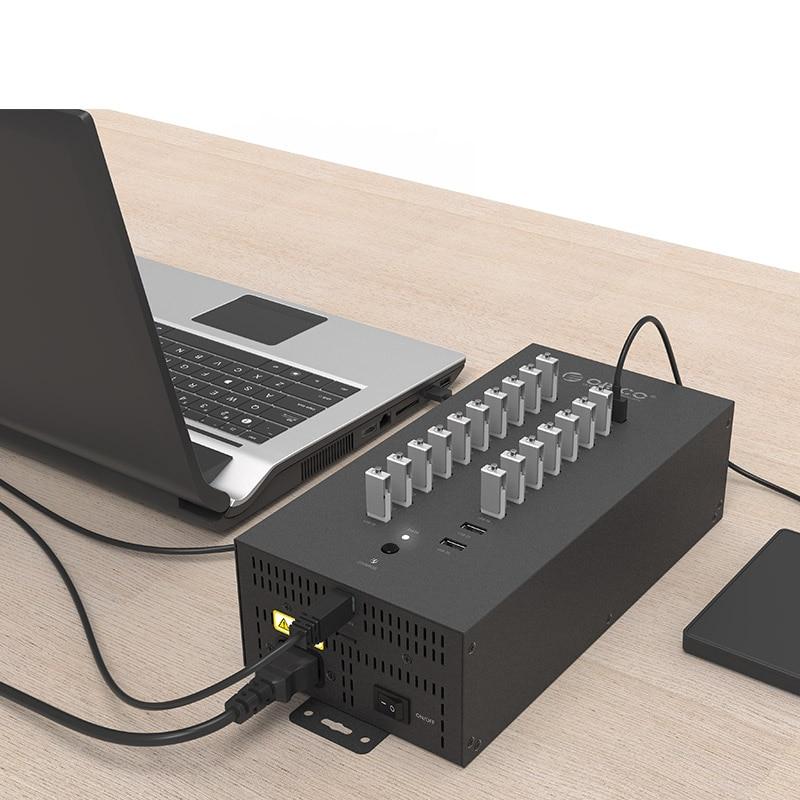 ORICO IH20P USB HUB 20 USB pordid Tööstuslikud USB2.0 HUB USB - Arvuti välisseadmed - Foto 4