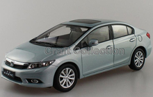 Silver 2011 Honda Civic 9th Generation Diecast Model Show Car Miniature Toys