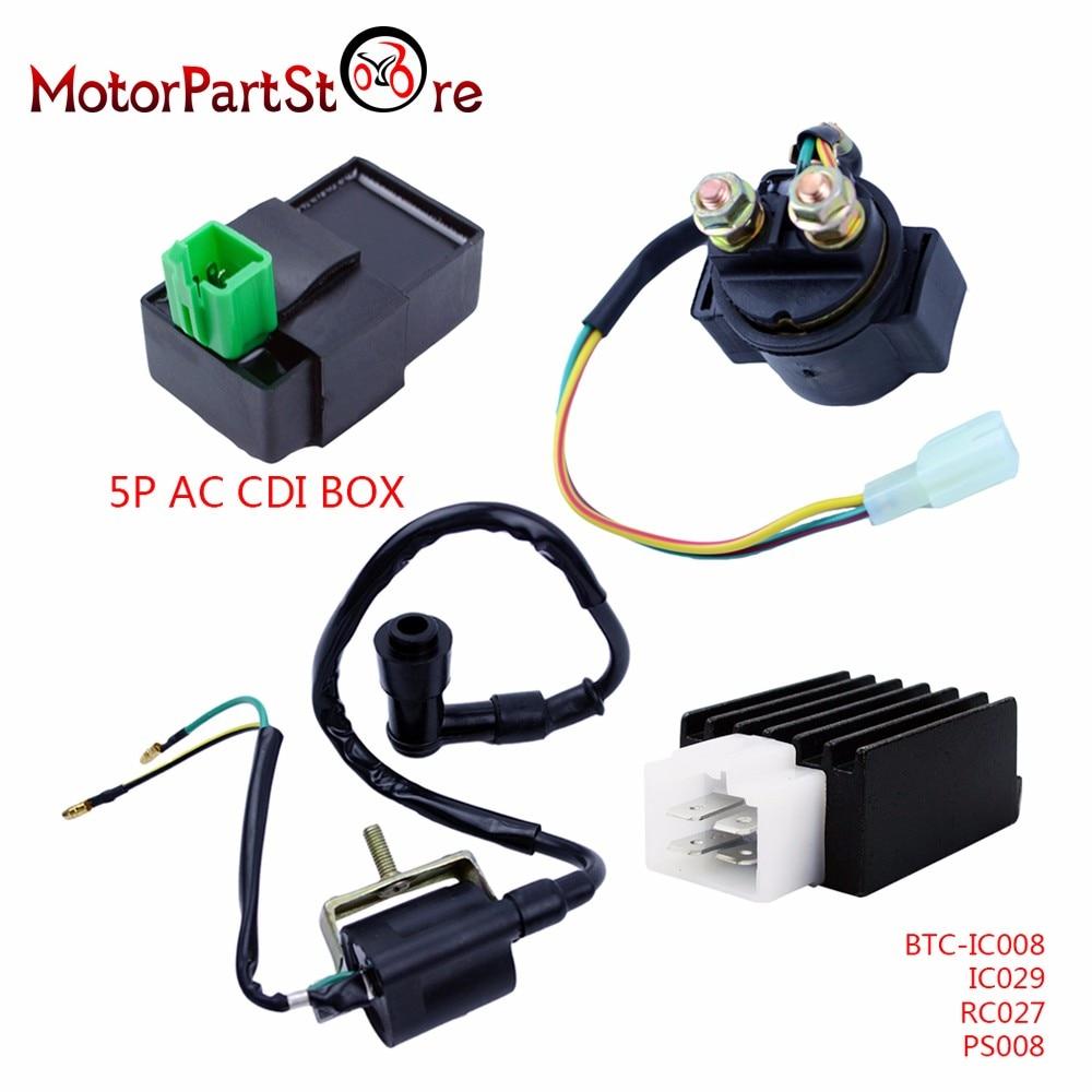medium resolution of ignition coil ac cdi box regulator rectifier relay for 50cc 70cc 90cc 110cc 125cc engine loncin taotao roketa chinese atv quad in motorbike ingition from
