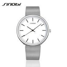 SINOBI Business JAPAN Quartz Watch 2016 Relojes Hombre Ultra Slim Top Brand Men Casual Analog Watch Men'S Relogio Gift AA163