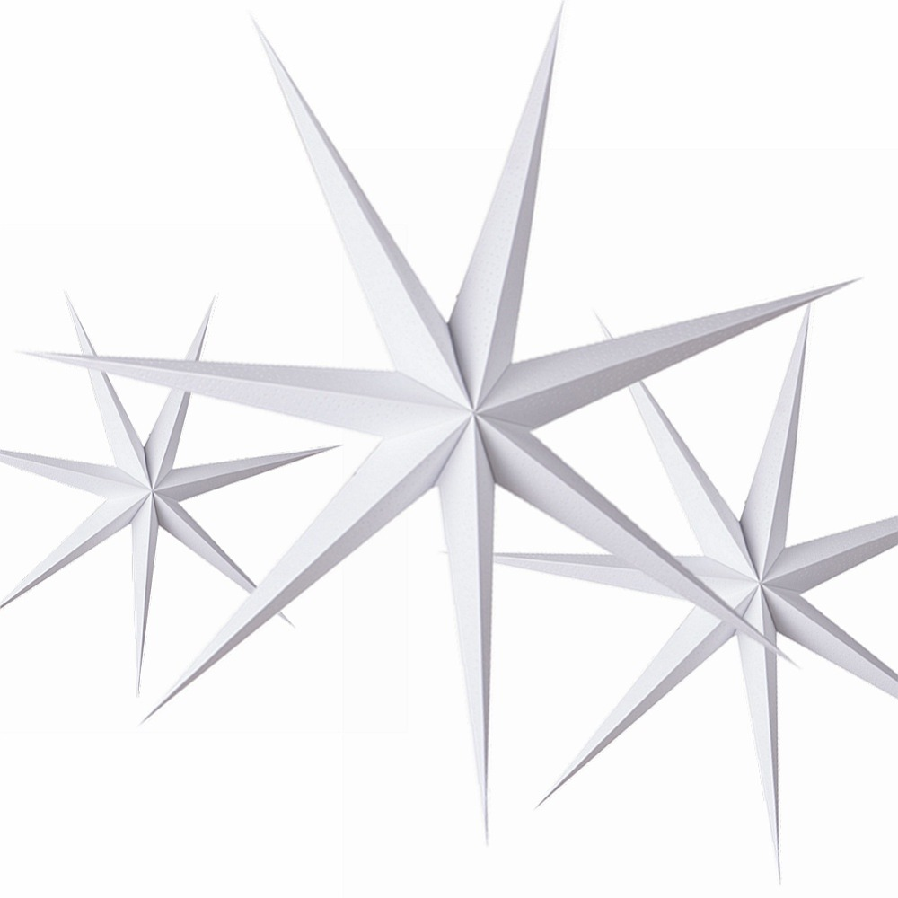 1pc 60cm DIY Seven Angles Paper Star Hanging Christmas Lantern for Home Party Decorations Craft Xmas New Year Decor Accessories in Party DIY Decorations from Home Garden