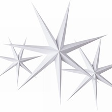 1pc 60cm DIY Seven Angles Paper Star Hanging Christmas Lantern for Home Party Decorations Craft  Xmas New Year Decor Accessories